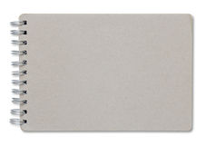 Recycleer notitieboekjedekking die op wit wordt geïsoleerd Royalty-vrije Stock Foto