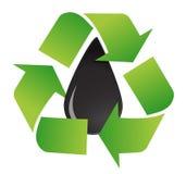 Recycleer oliesymbool Stock Fotografie