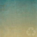 Recycleer op oude document textuur Royalty-vrije Stock Foto's