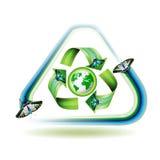 Recycleer pictogram Stock Fotografie