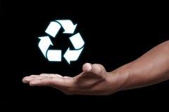 Recycleer pictogram Royalty-vrije Stock Foto