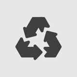 Recycleer pictogramillustratie Royalty-vrije Stock Foto's