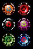 Recycleer pictogrammen Royalty-vrije Stock Afbeeldingen