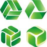 Recycleer pictogrammengeling stock foto's