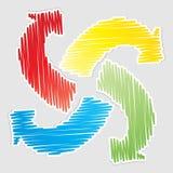 Recycleer pijlen Royalty-vrije Stock Foto