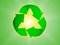 Recycleer pijlsymbool Stock Foto