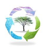recycleer pijlsymbool Stock Foto's