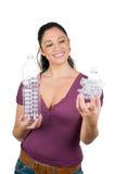 Recycleer plastic flessen Stock Fotografie