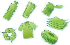 Recycleer producten Royalty-vrije Stock Foto's