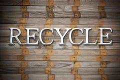 Recycleer Recyclings Houten Achtergrond Stock Foto's