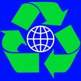Recycleer rond de Wereld vector illustratie