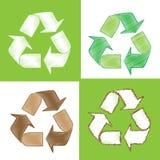 Recycleer schets als krabbels Royalty-vrije Stock Foto's