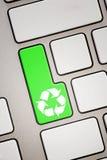 Recycleer sleutel Stock Afbeeldingen
