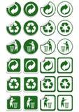 Recycleer stickers Stock Fotografie