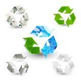 Recycleer symbolen Royalty-vrije Stock Afbeeldingen