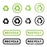 Recycleer symbolen Royalty-vrije Stock Foto's