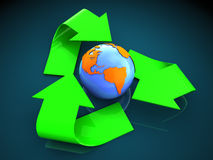 Recycleer symbool Stock Foto