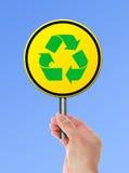 Recycleer symbool Stock Foto