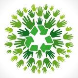 Recycleer symbool cocnept vector illustratie
