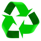 Recycleer symbool op een witte achtergrond Stock Afbeeldingen