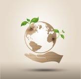 Recycleer symbool of teken van behoud stock illustratie