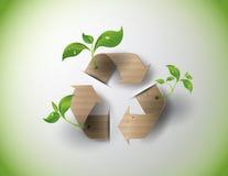 Recycleer symbool of teken van behoud Royalty-vrije Stock Foto's