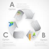 Recycleer symbool van Krant wordt gemaakt die Royalty-vrije Stock Afbeeldingen