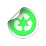 Recycleer Symbooletiket Stock Afbeeldingen