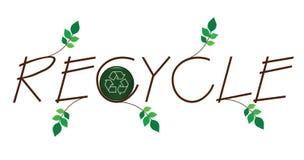 Recycleer takjetekst Stock Afbeeldingen