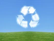 Recycleer teken Stock Foto's