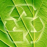 Recycleer teken Stock Foto