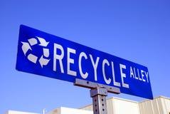 Recycleer teken royalty-vrije stock afbeeldingen