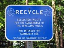 Recycleer teken stock fotografie
