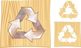 Recycleer teken in vector Stock Foto's