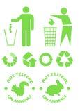 Recycleer tekens Royalty-vrije Stock Fotografie