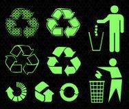 Recycleer tekens Stock Afbeeldingen