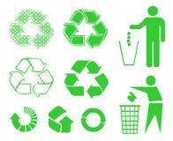 Recycleer tekens Stock Foto
