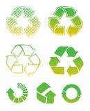 Recycleer tekens Royalty-vrije Stock Foto