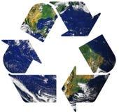 Recycleer ter wereld Stock Foto