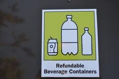 Recycleer uw drankcontainers royalty-vrije stock afbeeldingen