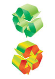 Recycleer vector - vector Stock Afbeeldingen