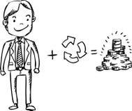 Recycleer voor geld vector illustratie