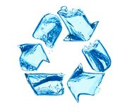 Recycleer voor schoon water Royalty-vrije Stock Afbeeldingen