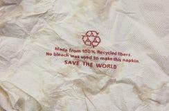 Recycleer weefsel Stock Afbeelding