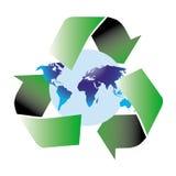 Recycleer wereld stock illustratie