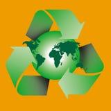 Recycleer wereld Royalty-vrije Stock Afbeeldingen