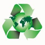 Recycleer wereld Stock Foto