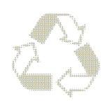 Recycleer wit Royalty-vrije Stock Foto