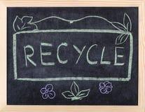 Recycleer woord Stock Foto
