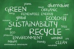 Recycleer Word Wolk Stock Fotografie